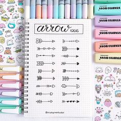 Arrow ideas that you can use in your bullet journal and study notes! Arrow ideas that you can use in your bullet journal and study notes! Bullet Journal School, Bullet Journal Headers, Bullet Journal Banner, Bullet Journal Aesthetic, Bullet Journal Notebook, Bullet Journal Inspiration, Journal Ideas, Bullet Journal Writing Styles, Journal Fonts