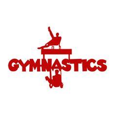 Laser Lady - Men's Gymnastics Title : Scrappin Sports Stuff