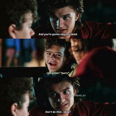 """2,158 Likes, 39 Comments - Stranger Things (@milevenslay) on Instagram: """"[2x09] I love them so much — Steve and Nancy or Steve and Dustin? — Give credit when using"""""""