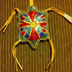 Quilled turtle amulet.   MIKINAAK!