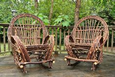 Twig Willow Rocking Chair SET  2 Rustic by TwigWillowFurniture, $469.00