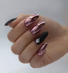 Lovely Early Spring Short Nails Art Design And Colors Ideas - Page 4 of 109 - Fashion Lifestyle Spring Nail Art, Nail Designs Spring, Spring Nails, Summer Nails, Spring Design, Oval Nails, Red Nails, Purple Chrome Nails, Nail Polish Designs