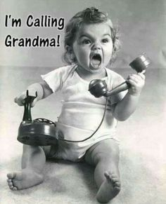 """Don't mess with me or else...I'm calling Grandma"""