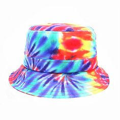 Custom Rainbow Tie Dyed Bucket Hat Print Your Own Design,Tie Dyed Bucket Hat,Rainbow bucket hat,Printing bucket hat Bucket Cap, Custom Ties, Design Color, Tie Dyed, Fashion Accessories, Detail, Hats, Prints, Stuff To Buy