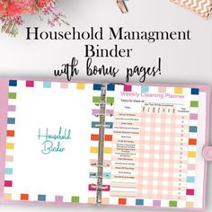 Home Management Binder Printable, Household Planner Printable, Includes FREE Cover Pages and Bonus Pages Conduct all of your household management with this printable home planner! The home binder kit includes plenty of pages for home organization such as cleaning, chores, debt tracking, bill pay, savings tracking and much more! https://www.etsy.com/listing/505797630