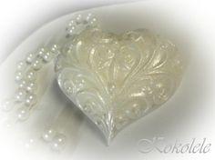 Wedding Favors   set of 30 Pearl Heart Soaps by Kokolele on Etsy