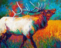 Autumn's Chorus - Bull Elk by Marion Rose Acrylic ~ 24 x 30