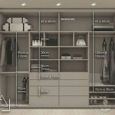Guarda-roupa planejado: 54 ótimas ideias e dicas de projeto! Wardrobe Interior Design, Wardrobe Door Designs, Walk In Closet Design, Wardrobe Design Bedroom, Closet Designs, Wardrobe Ideas, Bedroom Wardrobe, Wardrobe Closet, Built In Wardrobe