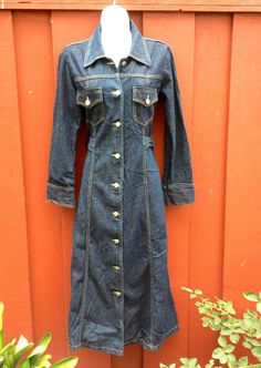 Denim trench! Love this!