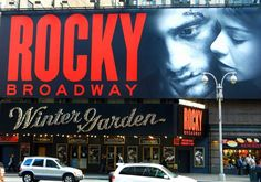 Rocky the Musical (originally Rocky: Das Musical). The show held its world premiere in Hamburg in 2012 and opened on Broadway in 2014 at the Winter Garden Theatre. The show roughly follows the plot of the 1976 film Rocky. #NewYorkCity #USA