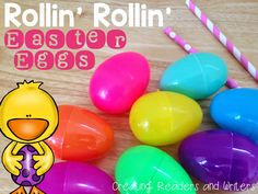 Creating Readers and Writers Blog: Easter Science Fun with Rollin' Rollin' Easter Eggs