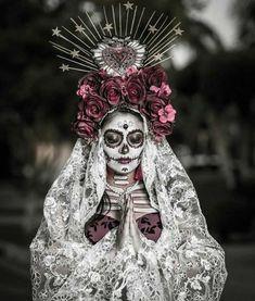 Mexico Day Of The Dead, Day Of The Dead Mask, Day Of The Dead Party, Halloween Make Up, Halloween Face, Halloween Costumes, Sugar Skull Makeup, Sugar Skulls, Sugar Skull Artwork