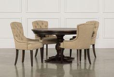 Jefferson 5 Piece Round Dining Set - Living Spaces