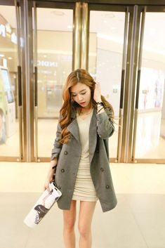 Side Ruched V Dress