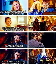 having everyone in one scene.