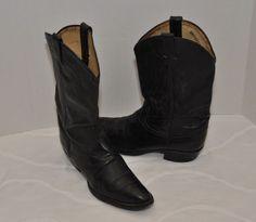 TONY LAMA Mens size 9D COWBOY western boots black leather  #TONYLAMA #CowboyWestern