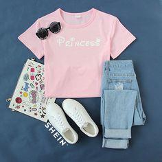 Princess, more than pink. #Pink #Letters #Print #TShirt