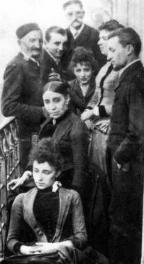 Camille Claudel with family