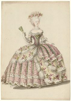 Court dress, ca 1787, Les Arts Decoratifs