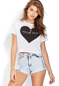 Follow Your Heart Cropped Tee | FOREVER21 - 2000061850