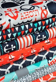 If I knew how to make a #quilt, I would totally use this #nautical #fabric!