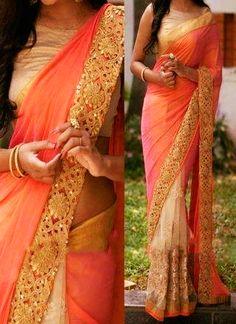 Designer Orange Georgette Bollywood replica Saree  #BollywoodReplicaSareesOnline #BollywoodReplicaSarees #BollywoodReplicaSareeOnline #BollywoodReplicaSaree #BollywoodSarees #BollywoodSaree
