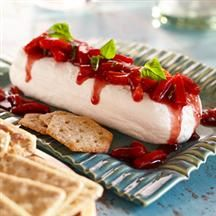 Roasted red pepper and blackberry topped cream cheese....got to remember this one!