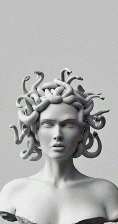 Black Aesthetic Wallpaper, Aesthetic Iphone Wallpaper, Aesthetic Wallpapers, Medusa Art, Medusa Tattoo, Sculpture Art, Sculptures, Greek Statues, Ancient Greek Sculpture