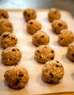 Quick Post-Workout Recovery: Cherry Almond Coconut Protein Balls: make really little ones and they would be perfect
