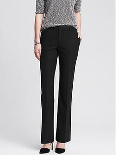Martin-Fit Black Lightweight Wool Trouser - Pants - The perfect black suit for warmer months.