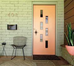 midcentury modern exterior house colors The Mad Men door knob