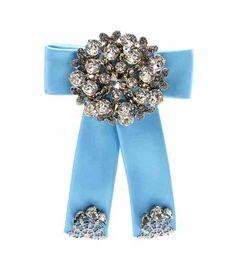 Crystal-embellished silk-satin brooch | Dolce & Gabbana