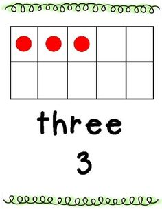 Here's a set of number posters from 1-10 with the numeral, number word, and ten frame representation.