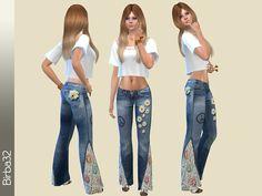Hippie Jeans Deisies by Birba32 at TSR � Sims 4 Updates
