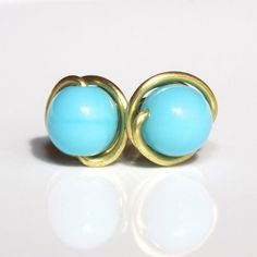Turquoise Stud Earrings by Solshei - 'Lulu Goes to Hollywood'.  xo