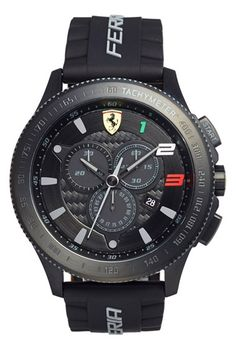 Scuderia Ferrari 'Scuderia XX' Chronograph Silicone Strap Watch, 48mm available at #Nordstrom