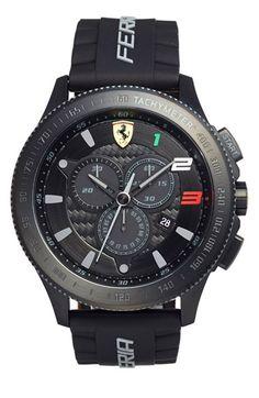 Scuderia Ferrari 'Scuderia XX' Chronograph Silicone Strap Watch, 48mm available at #Nordstrom