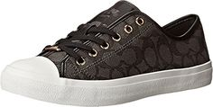 Coach Womens Empire Outline Sneaker BlackSmokeBlack Size 75 *** Be sure to check out this awesome product.