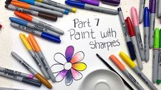 Learn several exciting and new ways to color with Sharpies or any other alcohol marker, including Copic, Spectrum Noir and Bic. Crayon Crafts, Marker Crafts, Sharpie Crafts, Sharpie Markers, Sharpie Art, Alcohol Markers, Sharpie Projects, Sharpie Doodles, Crayon Art