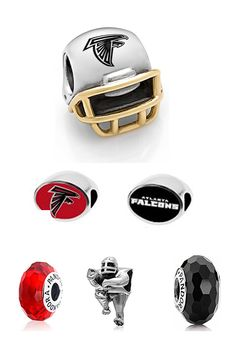 b2eb50fe2 Make an entire Atlanta Falcons Pandora Bracelet starting with these Charms  and beads. You can create a whole bracelet dedicated to the Atlanta Falcons  ...