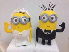 minion wedding toppers. Indian Weddings Inspirations. Wedding Cake. Repinned by #indianweddingsmag indianweddingsmag.com #weddingcake