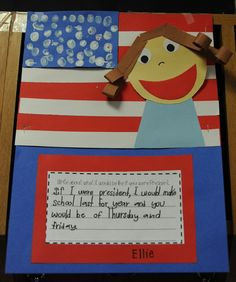 "This project includes art (paper self-portrait), fine motor skills (cutting red strips for flag), math (counting fingerprint ""stars""), AND language skills all wrapped up in a social studies lesson. GENIUS!"