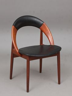 Arne Hovmand-Olsen; Teak and Leather Side Chair, c1960. This makes me swoon.