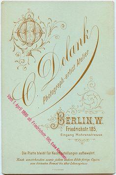 cabinet card ○ Deutschland, Berlin, via Flickr.