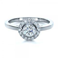 Custom Bezel Engagement Ring
