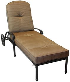Heritage Outdoor Living Elisabeth Cast Aluminum Outdoor Patio Chaise Lounge with Cushion - Antique Bronze. 15-Year Frame Warranty - Heritage Outdoor Living products are sold through our Exclusive Amazon.com Retail Partner - Patio Import. Fully Welded, Solid Cast Aluminum Construction is 100% Rust Free!. Masterfully Crafted To Combine Comfort, Elegance, & Quality. Five-Stage Powder Coated Finish is the Toughest in the Outdoor Furnishings Industry - Antique Bronze Finish. Deep Seating…