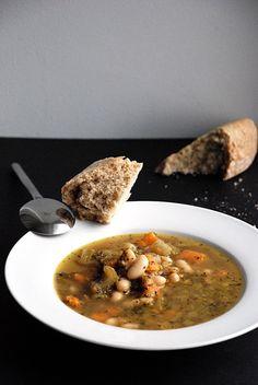 Trufla: Wenecka zupa jarzynowa z fasola.