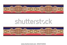 Digital Textile Design Motif Botanical Flower Stock Illustration 2022556061