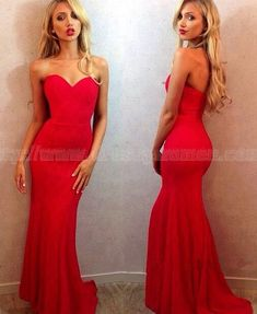 Sexy Sweetheart Mermaid Sleeveless Long Prom Dresses / Long Evening Gown