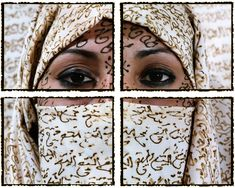 "Essaydi's work is iconic in its novel use of henna and Arabic calligraphy.  She writes in her new book, Crossing Boundaries Bridging Cultures, that ""In employing calligraphic writing, I am practicing a sacred Islamic art that is usually inaccessible to women.  To apply this writing in henna, an adornment worn and applied only by women adds a further subversive twist. """